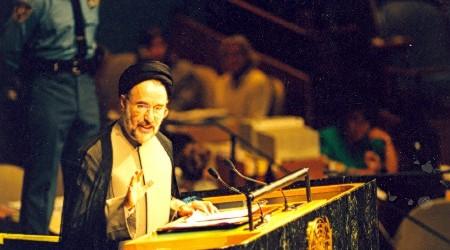 بازخوانی تاریخ/ فیلم کامل سخنرانی تاریخی سید محمد خاتمی در سازمان ملل (۳۰ شهریور ۱۳۷۷)